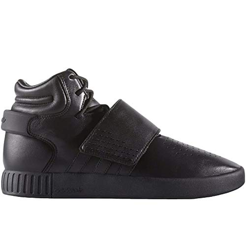 adidas Originals Mens Tubular Invader Strap Trainers - Black Leather - 4
