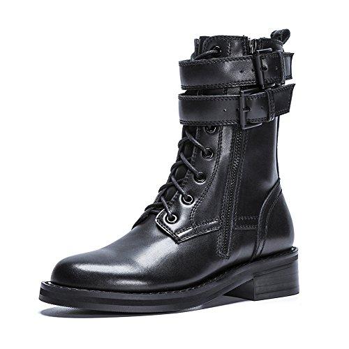 Q1709 Plateforme BlackA Hiver Automne Chaussures Bottes Prime Martin Randonnée Suede Classiques Boucle WSXY Femme Plates Plein en KJJDE Air xqUwYACZY