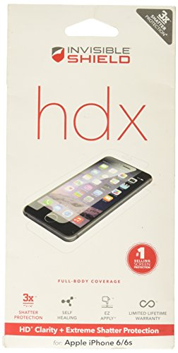 (InvisibleShield HDX - HD Clarity + Extreme Shatter Protection for Apple iPhone 6 (4.3