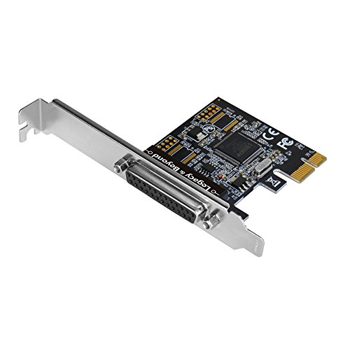 SIIG Legacy and Beyond Series 1 Port Single Parallel PCIe Card - Supports SPP/EPP/ECP - IEEE 1284 Standard