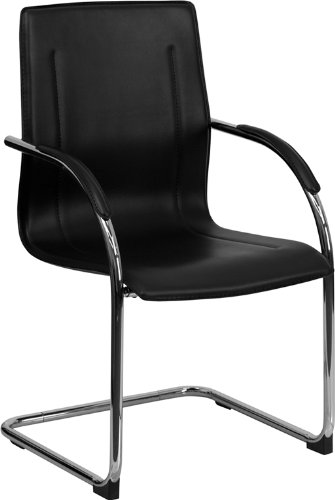 Zuffa Home Furniture Black Vinyl side chair