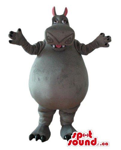Madagascar Hippo cartoon character SpotSound Mascot US costume fancy (Hippo Mascot)