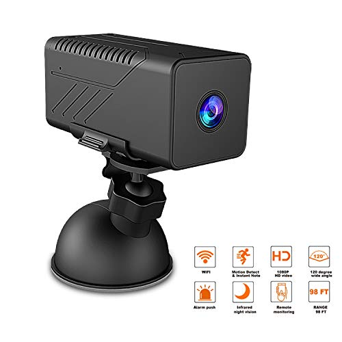 Wireless Hidden Camera Support Remote Mobile Viewing and Storage WiFi 1080P Spy Camera with Night Vision Motion Detection Support Cloud Storage and 2-Way Audio