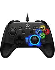 Wired PC Game Controller, GameSir T4w for Windows 7/8/8.1/10 with LED Backlight, Gamepad for PC with Dual-Vibration Turbo and Trigger Buttons
