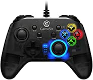 GameSir T4W PC Controller Wired Game Controller for Windows 10/8.1/8/7 Dual Shock Game Gamepad, USB Gamepad with LED Backlig