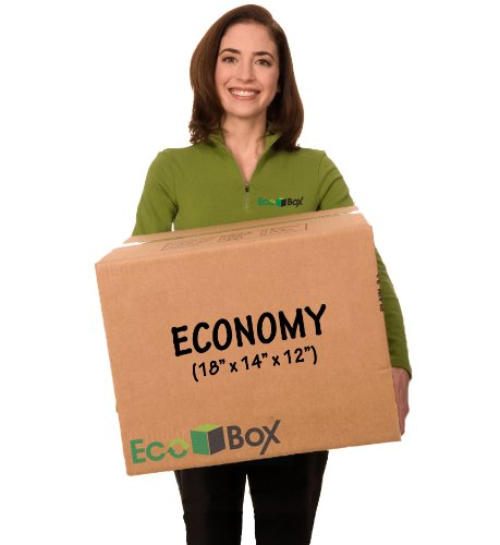 "EcoBox Medium Moving Boxes Economy Size 18"" x 14"" x 12"" Pack of 20 (V-11618)"