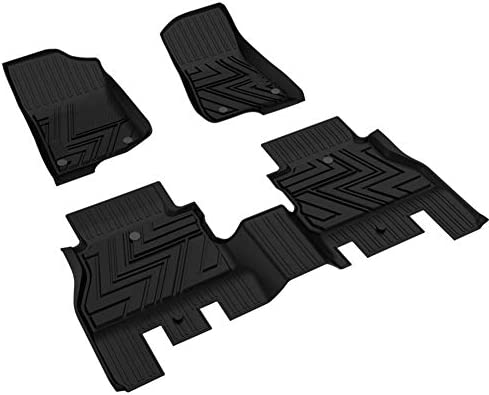 SUPER LINER Floor Mats for Jeep Wrangler JL 2018 2019 2020 All-Weather Cargo Liner Trunk Without Subwoofer All Weather Floor Liners & Trunk Mats with Non-Toxic TPE for JL Unlimited 4-Door (Not for JK)