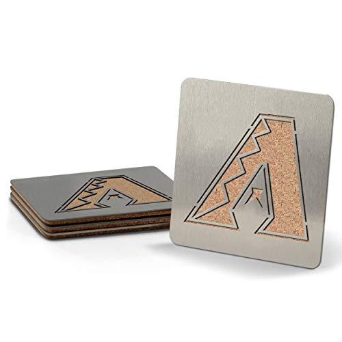 MLB Arizona Diamondbacks Boasters, Heavy Duty Stainless Steel Coasters, Set of 4