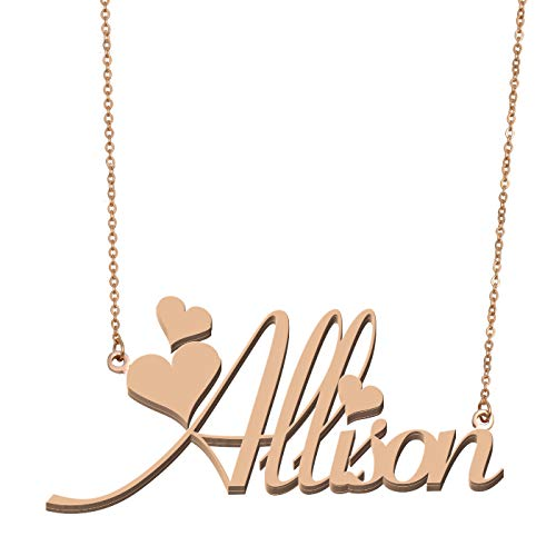 Aoloshow Customized Custom Name Necklace Personalized - Custom Made Allison Necklace Initial Monogrammed Gift for Womens Girls from Aoloshow
