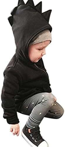 Baby Toddler Kid Little Boys girls Cartoon Dinosaur Hooded Coat Jacket Outwear