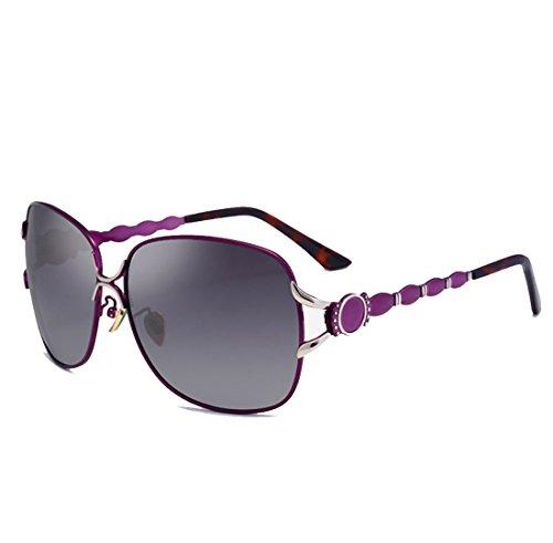 QQBL De Mujeres Gafas Ojo De Purple UV400 Las Revestidas De Las Resina De De del La del Sol Revestido Metal Moda Gato La Black 1w1Hfr
