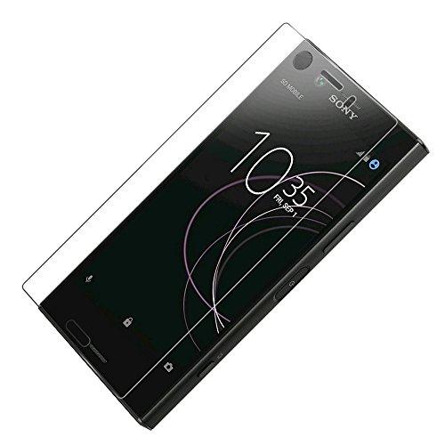 CENTAURUS Sony Xperia XZ1 Compact 強化ガラスフィルム, 【3枚セット】 ラウンドエッジ加工 指紋防止 耐衝撃 防爆裂 99%高透過率 気泡防止 硬度9H 極薄型 存在感ゼロ 画面鮮やか高精細 液晶保護ガラスフィルム 対応 Sony Xperia XZ1 Compact G8441 SO-02K / PF41 4.6