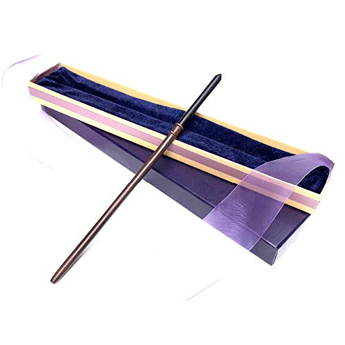 WENHSIN 14 inch Witch Magic Wand,Cosplay Props Accessory Magic Kits Party Wizard Witch Sorcerer Wand Magical Stick Toy with Gift Box (F)]()