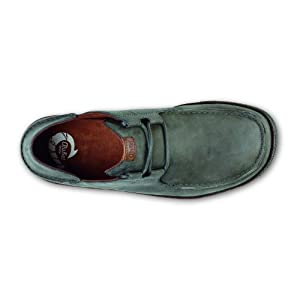 OluKai 'Ohana Lace-Up Nubuck Shoe - Men's Storm Grey/Dark Wood 10