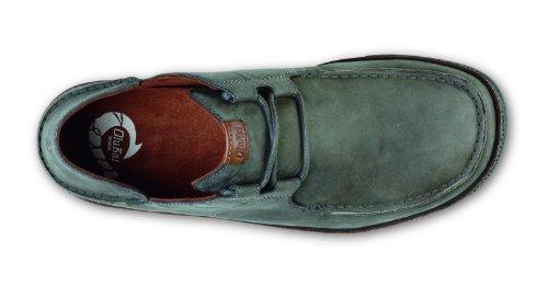 Olukai Ohana Chaussures À Lacets En Nubuck - Mens Tempête Gris / Bois Foncé