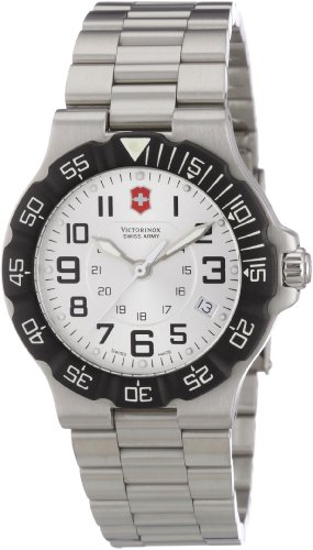 Victorinox Active 241346 – Reloj analógico de cuarzo para hombre, correa de acero inoxidable color plateado