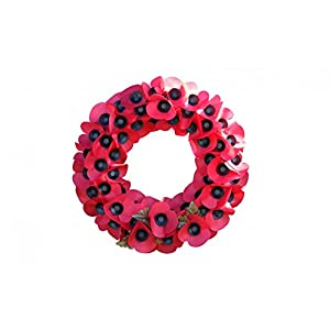 Wallmonkeys Remembrance Day Poppy Wreath Wall Decal Peel Stick Floral Graphic WM215066 27