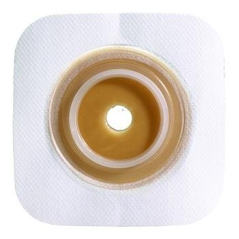 SUR-FIT Natura Stomahesive Flexible Skin Barrier/Wafer - 4 x 4 wafer - 1(1/4) flange - white - Box of 10 by - Wafer Flexible