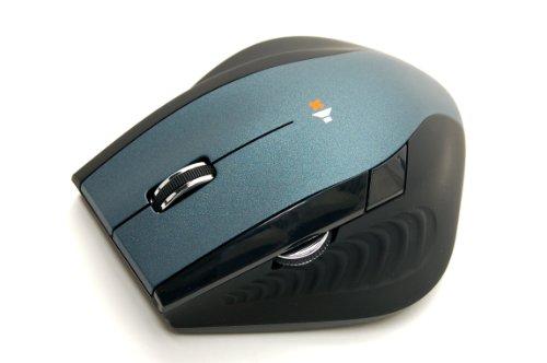 SM-5000M Gunmetal Blue Double Scroll Wheel Silent PC Mouse
