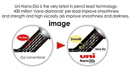 nano Dia 0.4 Mm-hb- with Values Japan Original Description of Goods Strength /& Deep /& Smooth -Uni-ball Extra Fine Diamond Infused Pencil Leads 30 Leads X 3 Pack//total 90 Leads//