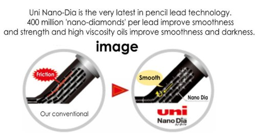 strength /& Deep /& smooth -Uni-ball Extra Fine Diamond Infused Pencil Leads 0.7 Mm-hb- 40 Leads X 3 Pack//total 120 Leads nano Dia