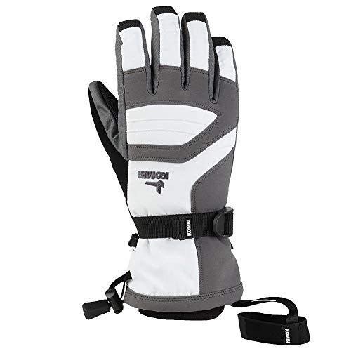 - Kombi Women's Storm Cuff III Gloves, White Gunmetal, X-Large