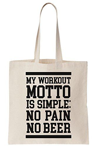 Is Canvas Moto Tote My Workout No Bag Pain No Beer ZOqEx0T