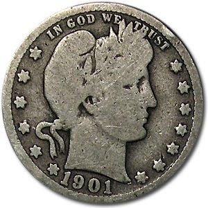 1901 Barber Quarter Good/VG Quarter Good