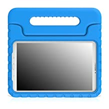 MoKo Tab E 9.6 Case - EVA Kids Shock Proof Convertible Handle Stand Cover for Samsung Galaxy Tab E / Tab E Nook 9.6 Inch 2015 Tablet (Fit Both WiFi and Verizon 4G LTE Version), BLUE