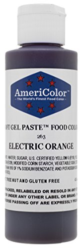 Electric Orange Soft Gel Paste 4-1/2 Ounces by Americolor
