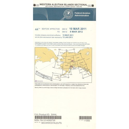 FAA Chart: VFR Sectional WESTERN ALEUTIAN ISLANDS SWAL (Current Edition) (Island Sectional)