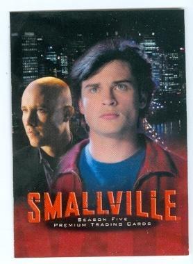 Smallville trading card 2007 Inkworks Season Five #1 Superman Clark Kent and Lex Luthor