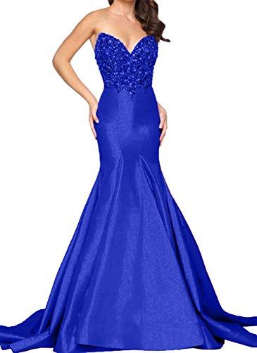 Kleider Charmant Schwarz langes Perlen Abendkleider Meerjungfrau Promkleider Royal Jugendweihe Damen mit Blau Steine YY15p