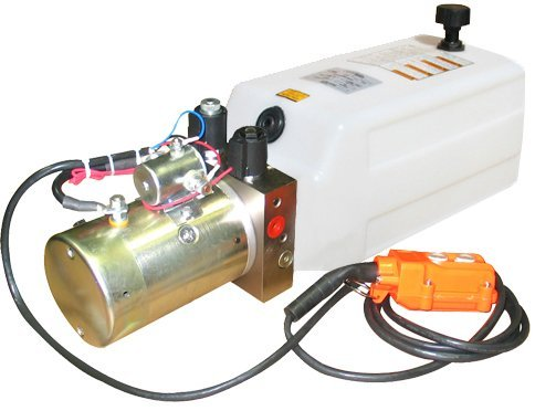 2500 Unit (Hydraulic Power Unit (12V DC, Double Acting): 1.3 GPM Flow, 1 Gallon(4 QT) Poly Tank @2500 PSI #6 SAE Port Size and Solenoid Operated With HPU Dimensions: 16.7