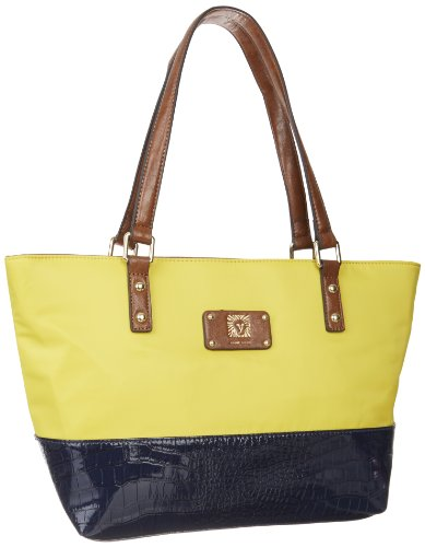 Anne Klein Petal Pushers Medium Tote,Yellow,One Size, Bags Central