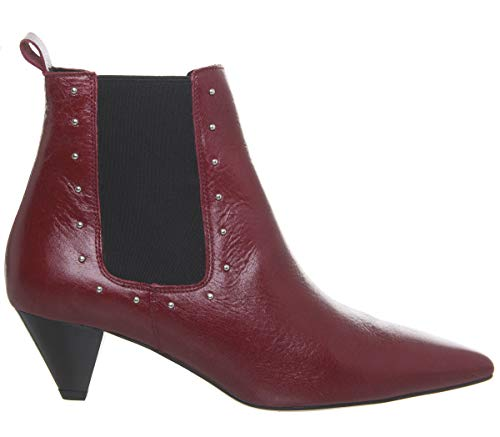 Office Arty Cone Leather Red Heel Chelsea Boots 6SFwq61