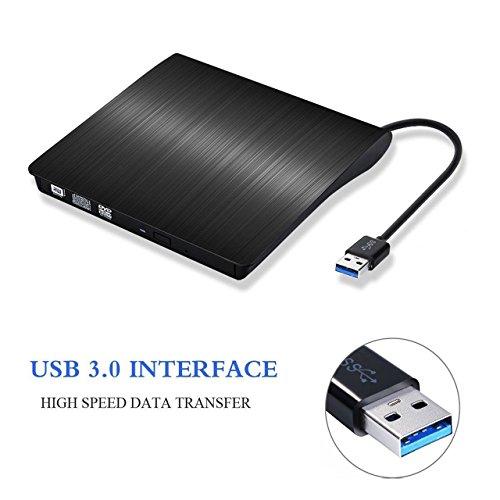 External DVD Drive Burner,Portable Slim USB 3.0 DVD +/-RW Burner Writer DVD CD ROM Optical Drive for Mac Macbook Pro Air iMAC, Laptop Desktops PC Black
