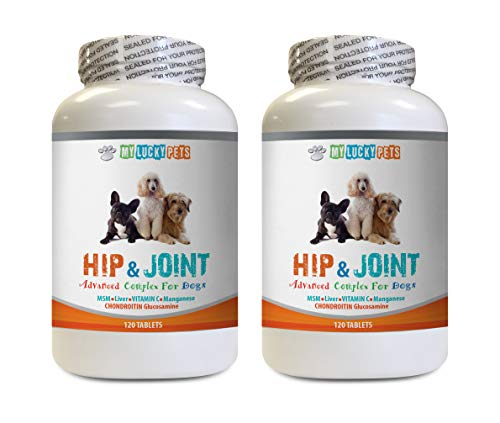 - MY LUCKY PETS LLC Dog Joint Boosting Chews - Dog Hip and Joint Complex - Vet Approved - Powerful Formula - Immune Support - Increase Joint Mobility - Dog glucosamine Organic - 2 Bottle (240 Tablets)