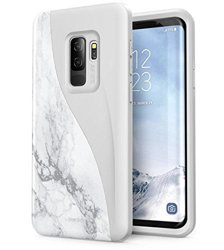 Galaxy S9+ Plus Case, i-Blason [Luna Series] Premium Hybrid Protective Case for Samsung Galaxy S9+ Plus 2018 Release (Marble) -
