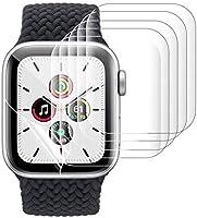 Xingmeng [6枚入り] Apple Watch Series 6/SE/5/4 44mm フィルム 用 アップルウォッチ Series 3/2 42mm 保護フィルム 指紋防止 気泡防止 キズ修復 3D全面保護 ラウンドエッジ加工...