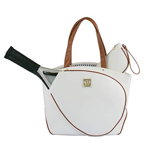 Court Couture Cassanova White Pebble Tennis Bag
