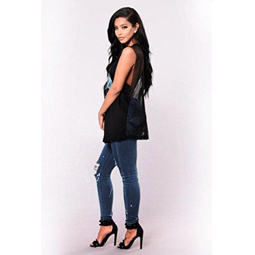 ADESHOP VTements Jeans Pantalon Crayon Slim Haute Femmes Denim Pure Couleur Skinny Jeans Skinny Chic Jeans Stretchy Bleu Taille Trou Pantalon Casual rrw1Bx