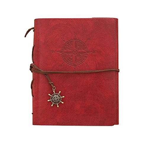 Dibence DIY Self-adhesive Album,Handmade DIY Photo Album,Perfect Way to Store and Present Your Photos,8.1×5.8(inches)(Dark red)
