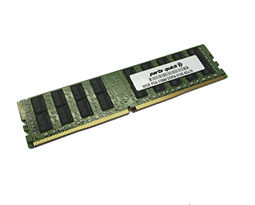 PC Hardware : 32GB Memory for Dell PowerEdge R630 DDR4 PC4-17000 2133 MHz LRDIMM RAM (PARTS-QUICK BRAND)