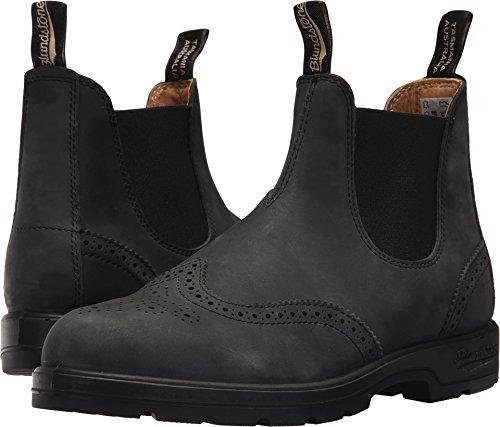 Blundstone BL1472 Rustic Black Brogue Boots (9 M AU)