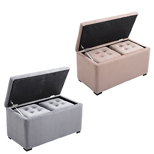 Generic O-8-O-4570-O ving Ro Footstool Footrest otrest Pouf Tufted ootstoo 3Pcs Nested Storage ouf Tuf Living Room e Benc Bench Set NV_1008004570-TYQFUS32 by Generic