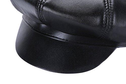 MYMYU Cappello in Pelle Unisex Moda Cappello Ottagonale per Uomo e Donna   Amazon.it  Abbigliamento 56d91495a68f