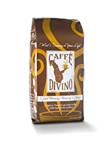 Caffe Divino Gourmet Coffee, Good Morning, Morning Glory Roast, 100% High Grown Arabica, Whole Bean, 12-Ounce Bags (Pack of 2)