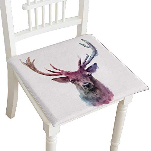 HuaWuhome Classic Decorative Chair pad Seat Animals Cushion with Memory Filling 14''x14''x2pcs by HuaWuhome