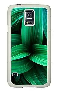 Samsung Galaxy S5 Green Plant Leaves PC Custom Samsung Galaxy S5 Case Cover White
